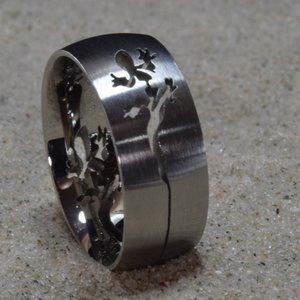 Stainless Steel Gecko Finger or Thumb Ring